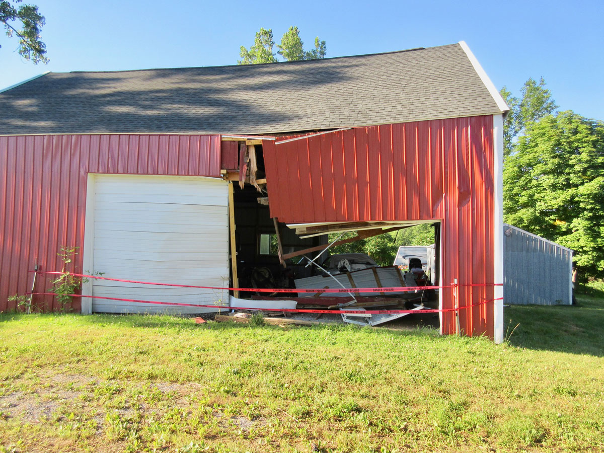 Updating The Shed: Drunk Driver Crashes Through Barn, Destroys Stored Mustang